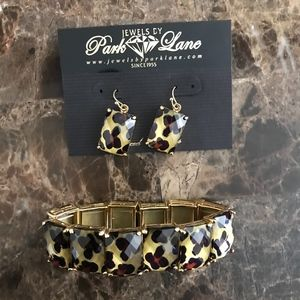 Park Lane Leopard Bracelet and Earrings
